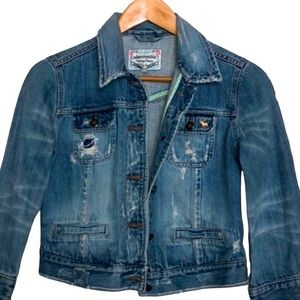 Abercrombie & Fitch Cropped Jeans Jacket